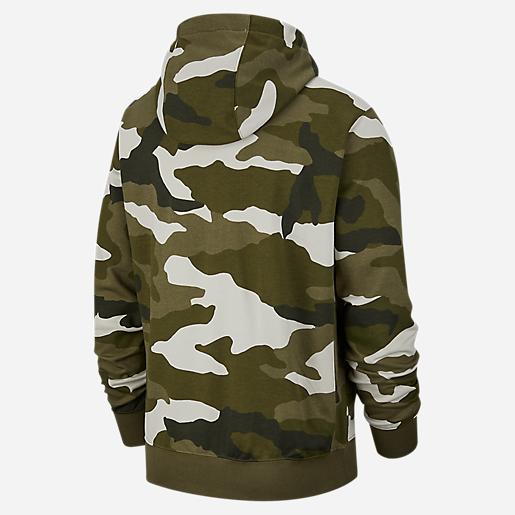 décent classique sweat à capuche homme camouflage nike