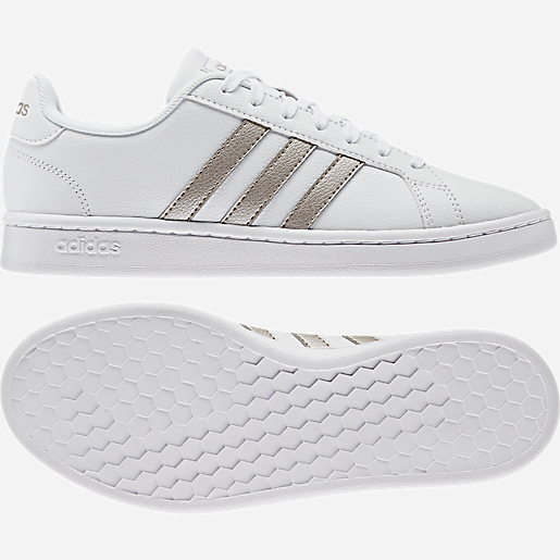adidas grand court femme or